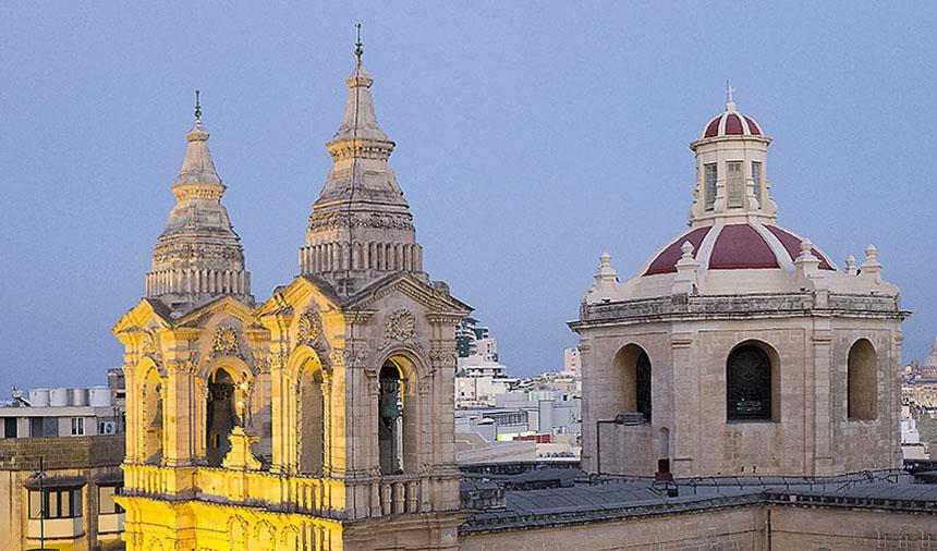 Malta Kirchen von oben size