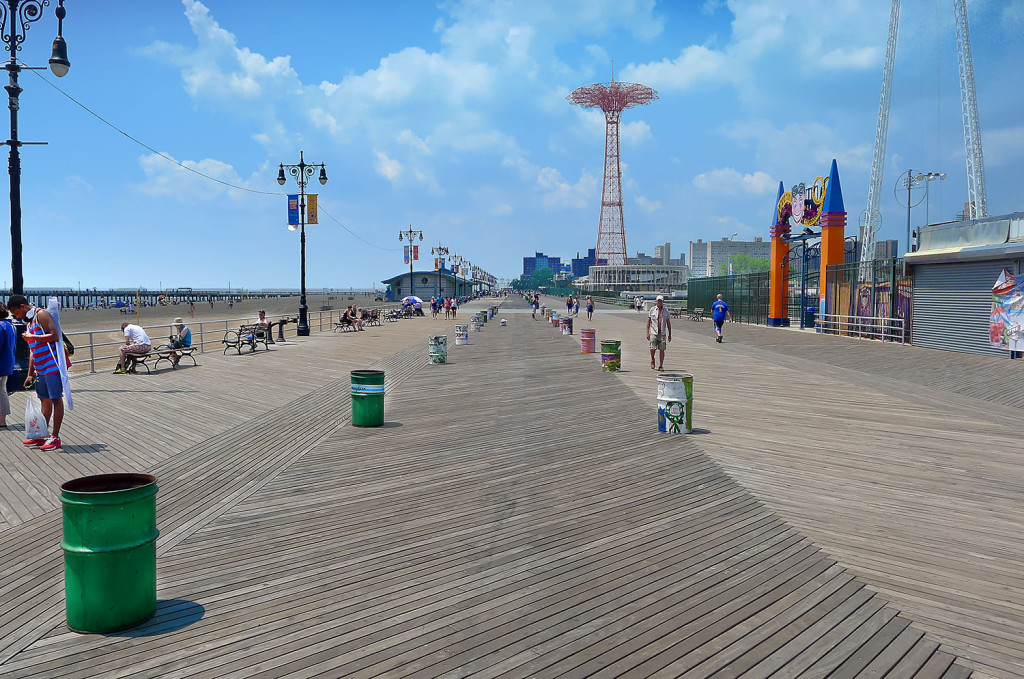 Coney Island board walk size